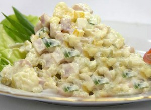 Simple Russian Salad at DesiRecipes.com