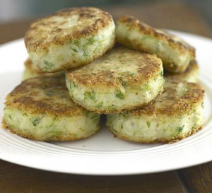 Potatoes With Green Filling at DesiRecipes.com