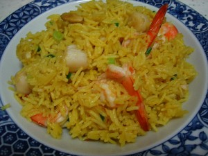 Seafood Rice at DesiRecipes.com