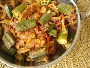 Bhindi Pyaz at DesiRecipes.com