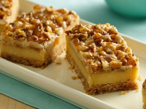 Caramello Cheesecake Bars at DesiRecipes.com