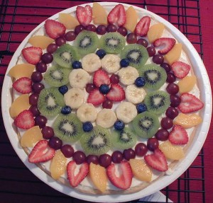 Fruit Pizza at DesiRecipes.com