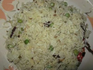 Mattar Pulao at DesiRecipes.com