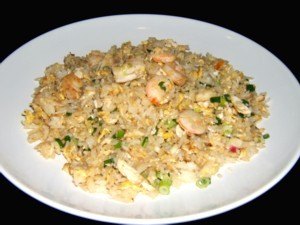 Ginger And Prawn Fried Rice at DesiRecipes.com