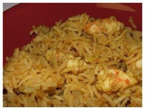 Prawn Pulao at DesiRecipes.com