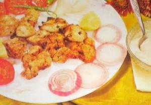 Chutney Fish Tikka at DesiRecipes.com