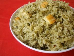 Palak (Spinach) Rice