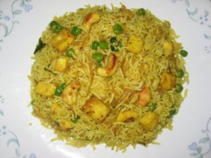 Paneer Fried Rice at DesiRecipes.com