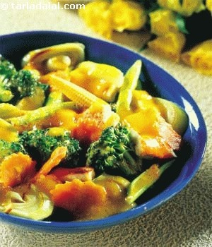 Vegetables In Chilli Mustard Sauce