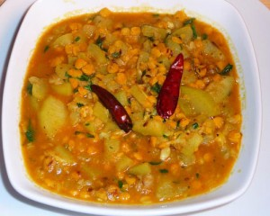 Channa Dal With Green Capsicum at DesiRecipes.com
