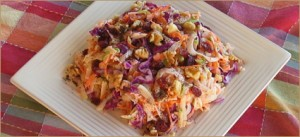 Colorful Crunchy Coleslaw at DesiRecipes.com