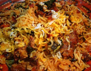 Special Hyderabadi Biryani at DesiRecipes.com