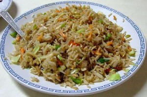 Vegetable Fried Rice at DesiRecipes.com