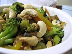 Vegetables And Cashew Stir Fry