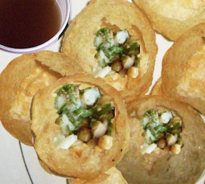 Pani Puri at DesiRecipes.com