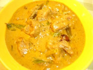 Malai Mutton at DesiRecipes.com