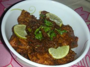 Ajwain (Carom Seeds) Chicken at DesiRecipes.com
