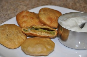 Masala Cheese Kachori at DesiRecipes.com